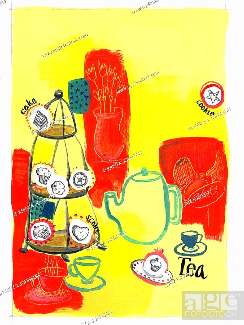 Stock Photo: tea time.