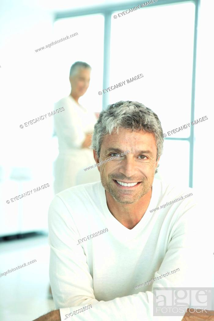 Stock Photo: View of a man looking at the camera.