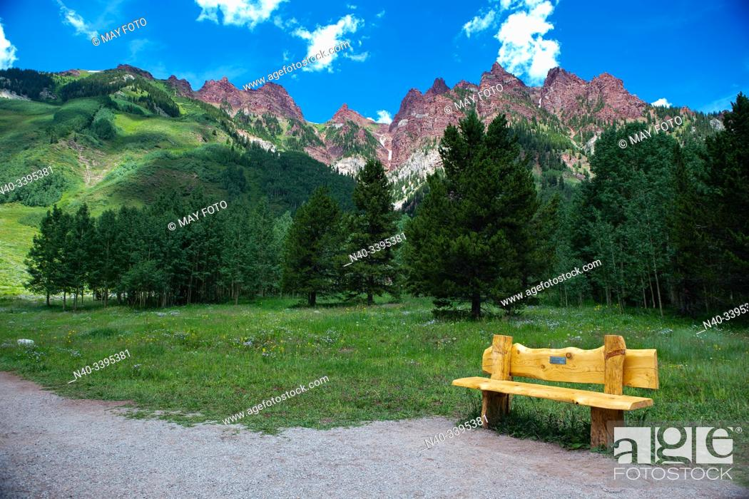 Stock Photo: Maroon Lakes, Aspen, Colorado, United States.