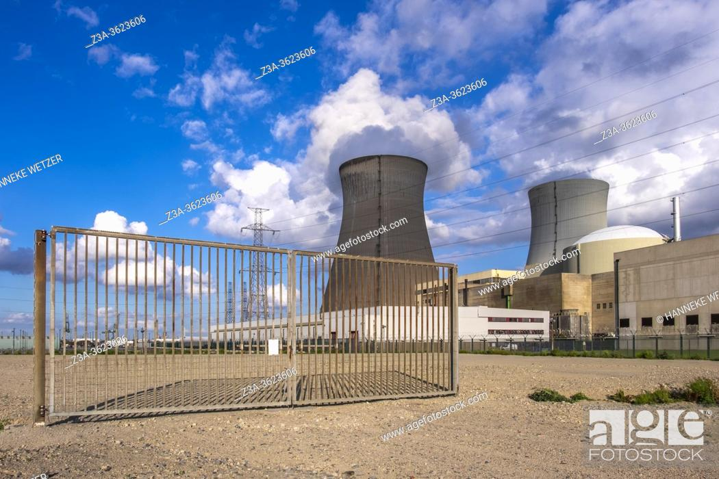 Stock Photo: Doel Nuclear Power Station, Flemish province of East Flanders, Belgium, Europe.