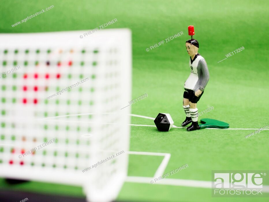 Stock Photo: In front of the goal.