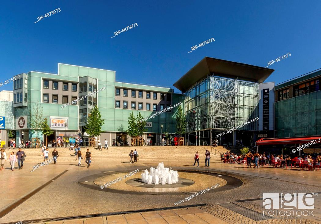Stock Photo: Cine Jaude, Centre Jaude, shopping centre, Place de Jaude, Clermont Ferrand, Puy de Dome department, Auvergne-Rhone-Alpes, France.