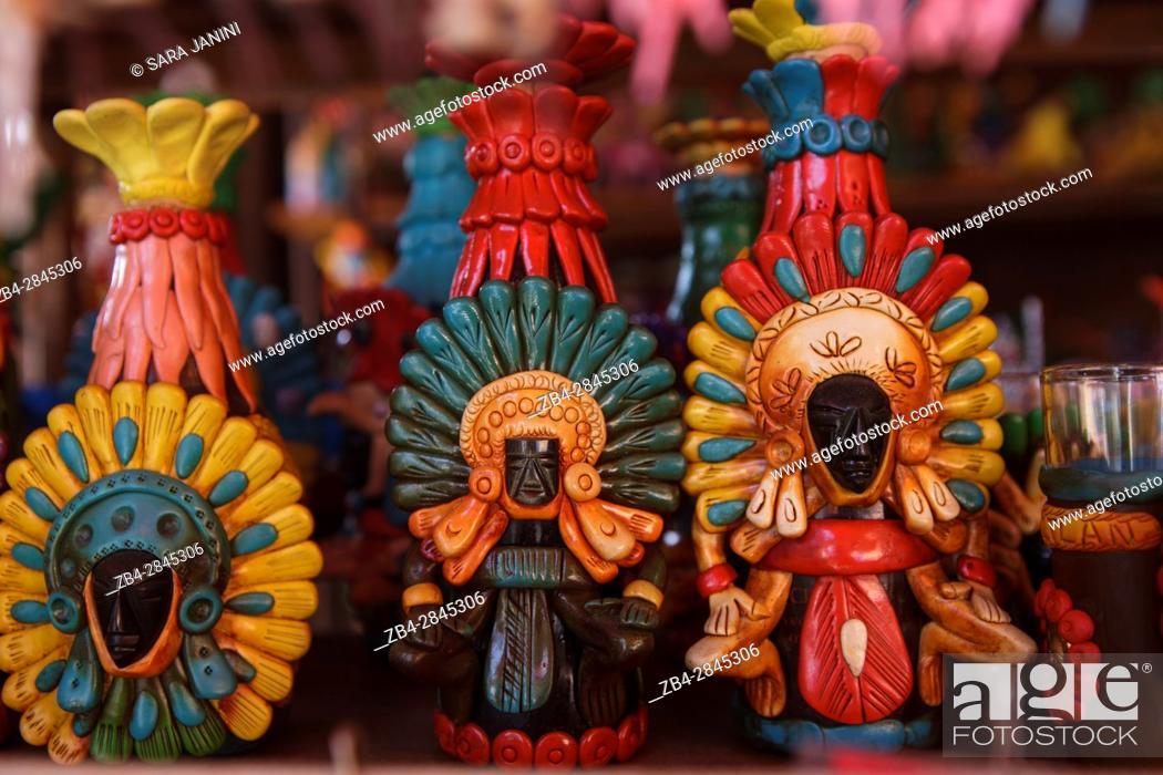 Stock Photo: Tepoztlan, Estado de Morelos, México, América.