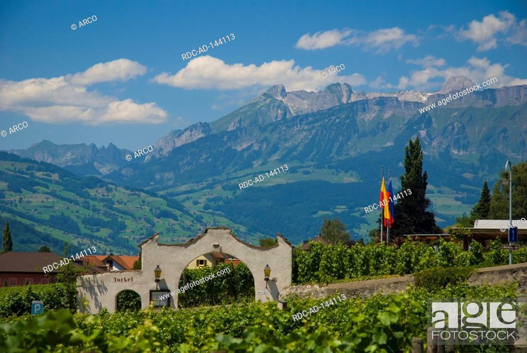 Stock Photo: Restaurant Torkel Vaduz Liechtenstein.