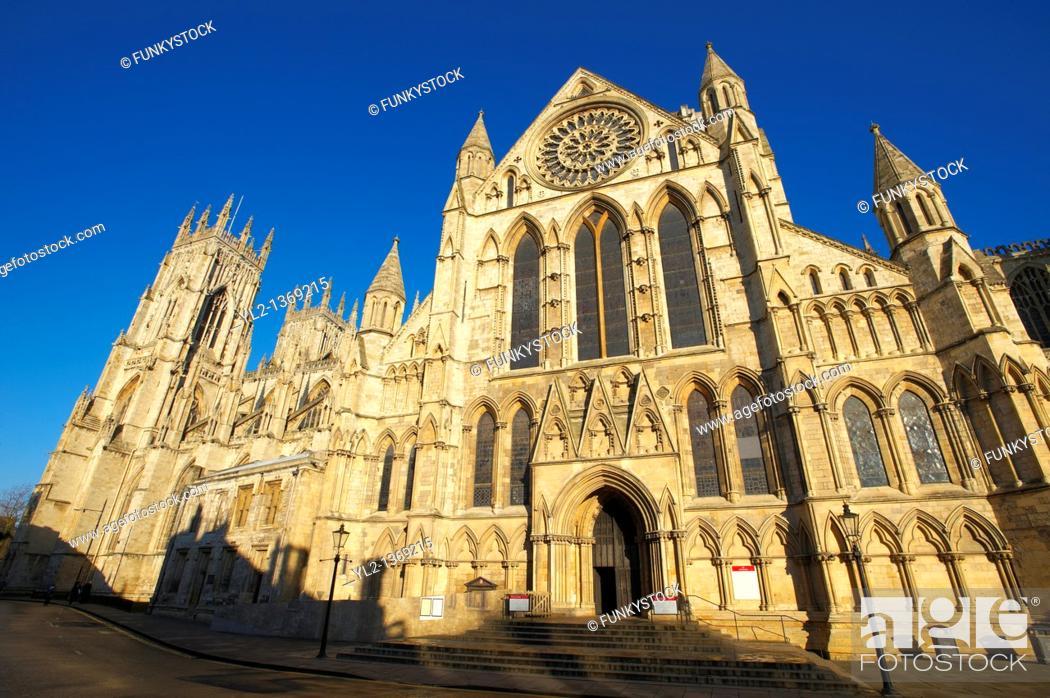 Stock Photo: York Minster exterior, England.