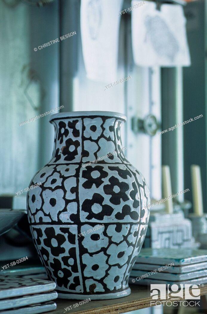 Stock Photo: Pottery workshop, Biarritz, France.