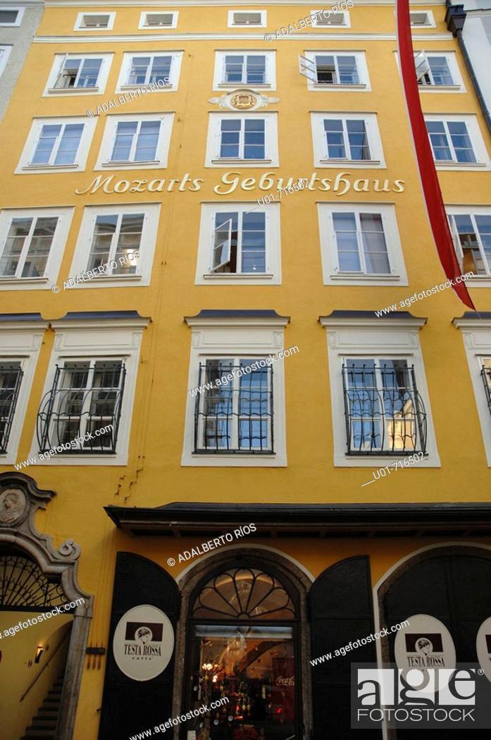 Stock Photo: Mozart's birthplace, Salzburg. Austria.
