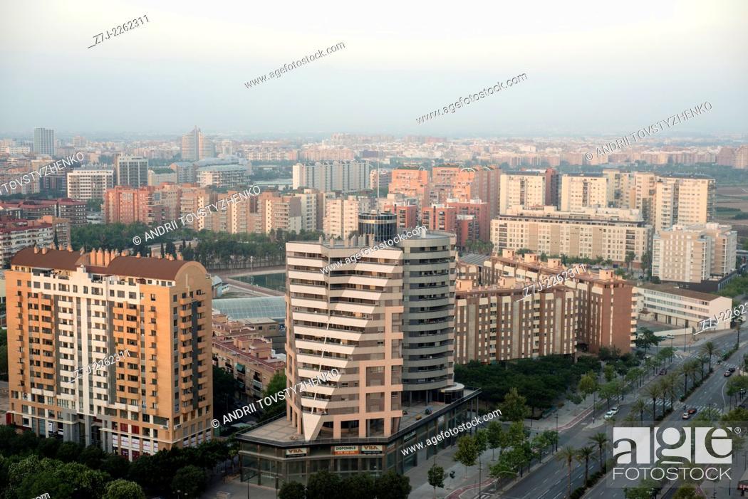 Stock Photo: View of Valencia City, Spain.