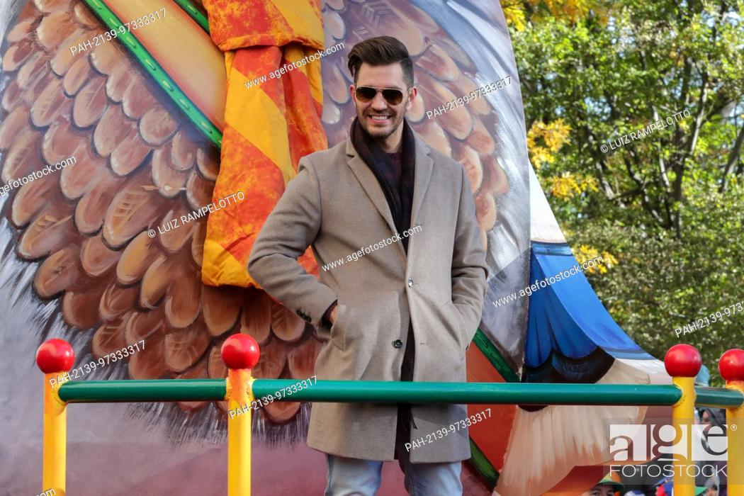 Stock Photo: Central Park West, New York, USA, November 23 2017 - Andy Grammer attends the 91st Annual Macy's Thanksgiving Day Parade today in New York City.