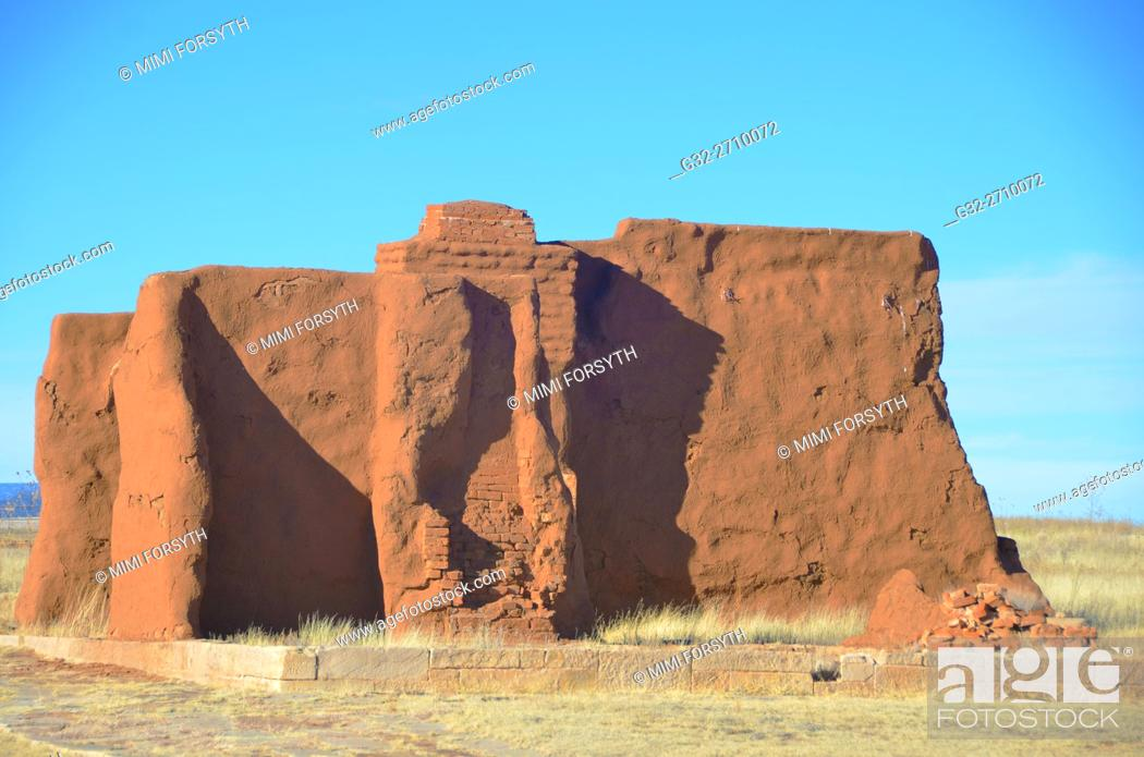 Stock Photo: Ruin, Ft. Union, New Mexico (1850s-1890s), USA.