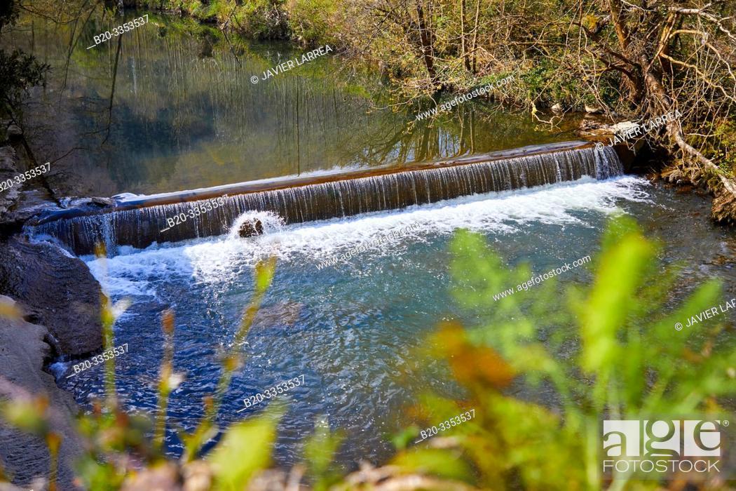 Stock Photo: Deva River, Elorregi Auzoa, Bergara, Gipuzkoa, Basque Country, Spain.