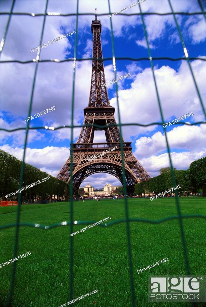 Stock Photo: Eiffel tower , Paris , France.
