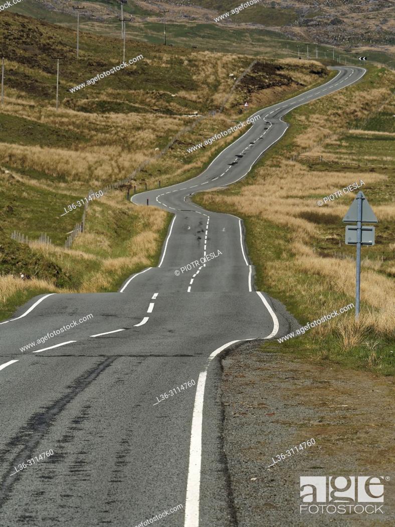 Stock Photo: Winding road. Isle of Skye. Scotland.