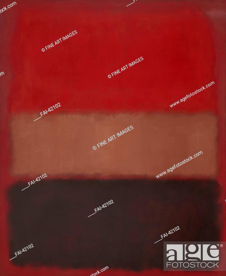 Stock Photo: No. 46 (Black, Ochre, Red Over Red) by Rothko, Mark (1903-1970)/Oil on canvas/Abstract expressionism/1957/The United States/Museum of Contemporary Art.