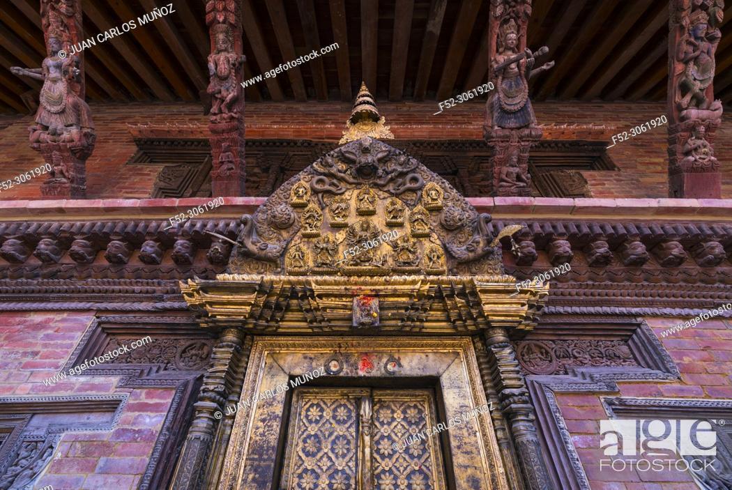Imagen: Durbar Marg, Patan, Lalitpur Metropolitan City, Kathmandu Valley, Nepal, Asia, Unesco World Heritage Site.
