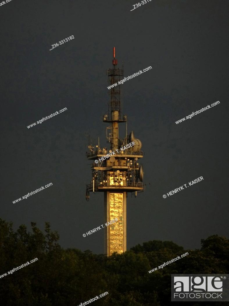 Stock Photo: Television antenna in Krakow, Poland.