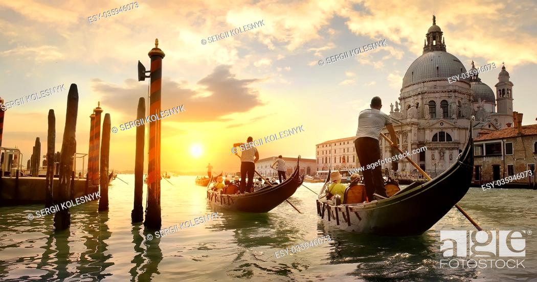 Stock Photo: Old cathedral of Santa Maria della Salute in Venice, Italy.