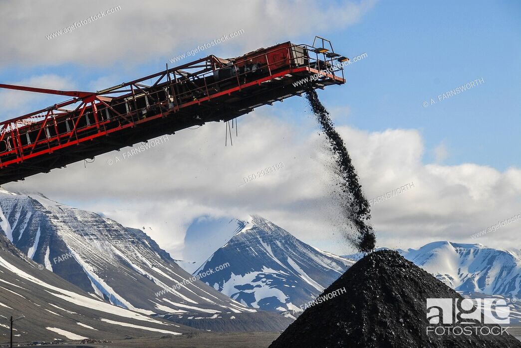 Stock Photo: SVALBARD NORWAY At 78 degrees latitude, Svea is the world's northernmost coalmine and the only one in Scandinavia. . . Located 1.