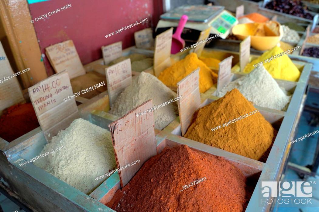 Stock Photo: Spice shop in Old town, Kuching, Sarawak, Malaysia, Asia.