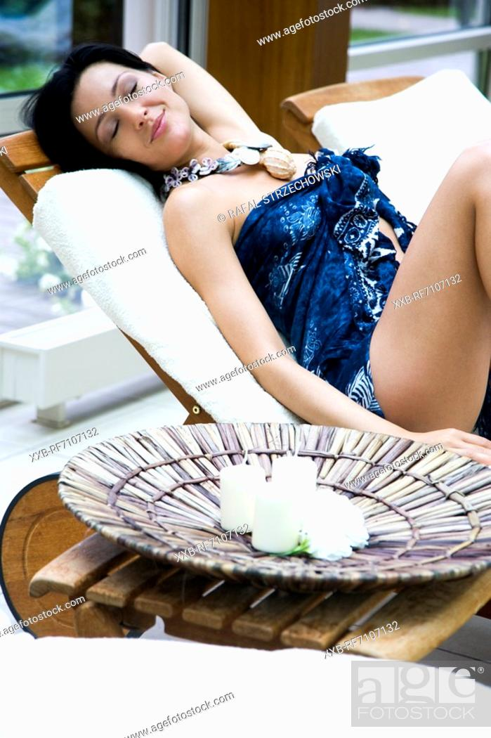 Stock Photo: Relax on terrace.