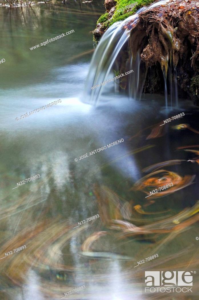 Stock Photo: Source of Cuervo River. Vega del Codorno. Serranía de Cuenca. Cuenca province. Castilla-La Mancha. Spain.