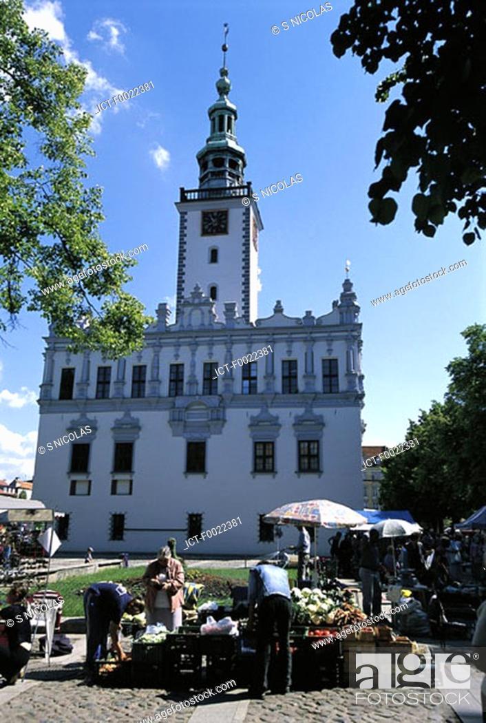 Stock Photo: Poland, Chelmno, City hall.