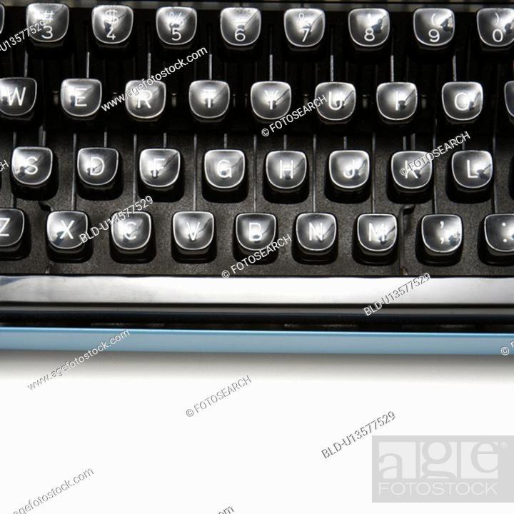 Stock Photo: Type levers on typewriter keyboard.