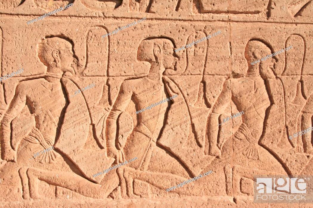 Stock Photo: Egypt: Abu Simbel - relief.