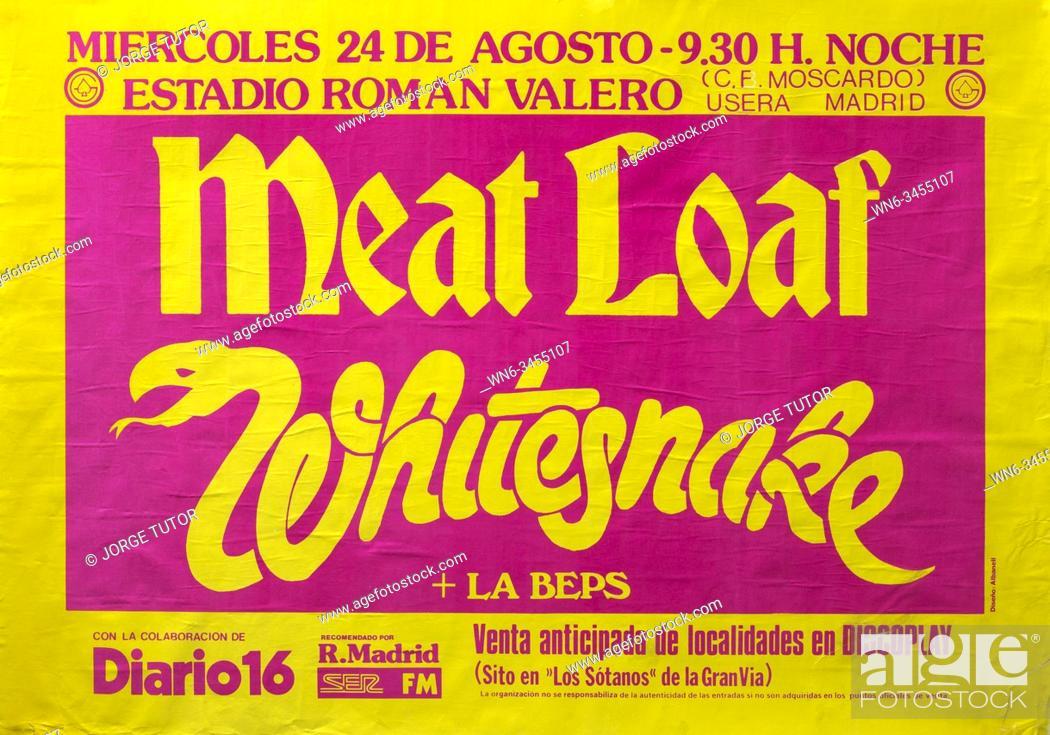 Stock Photo: Meat Loaf and Whitesnake, Madrid 1983.