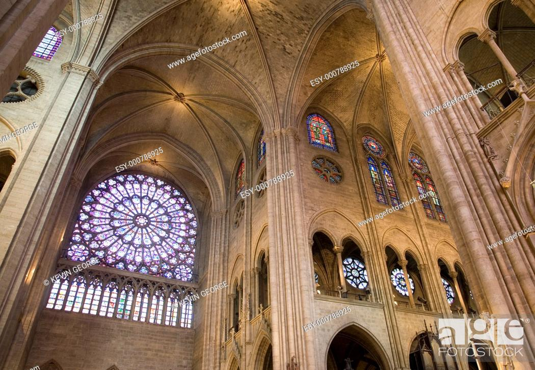 Stock Photo: Notre Dame Cathedral, Paris, France, Europe.
