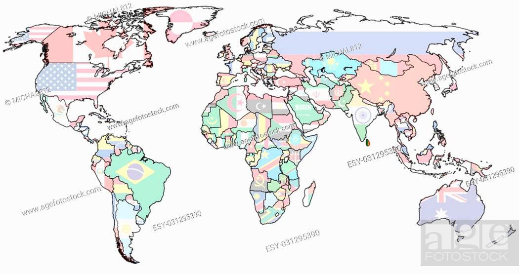 sri lanka flag on old vintage world map with national ...
