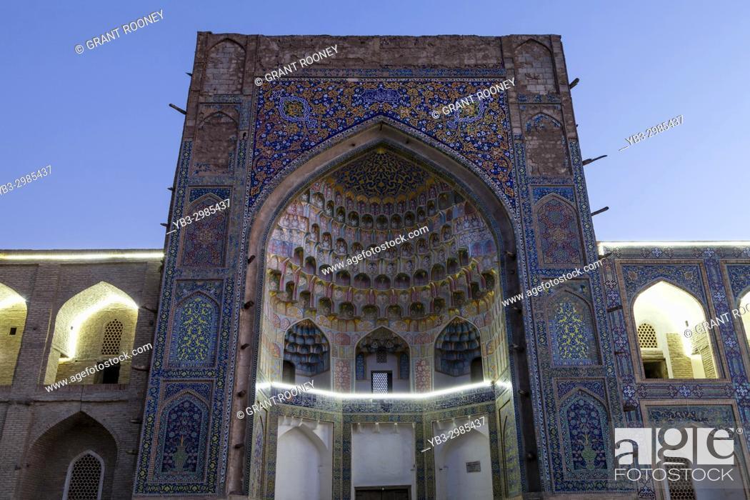 Stock Photo: Abdulaziz Khan Madrassa, Bukhara, Uzbekistan.