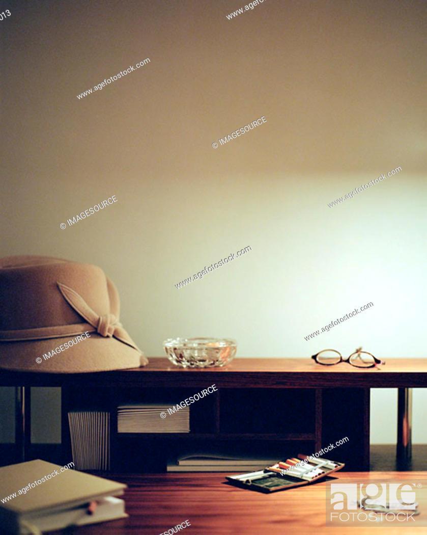 Stock Photo: Feminine items on desk.