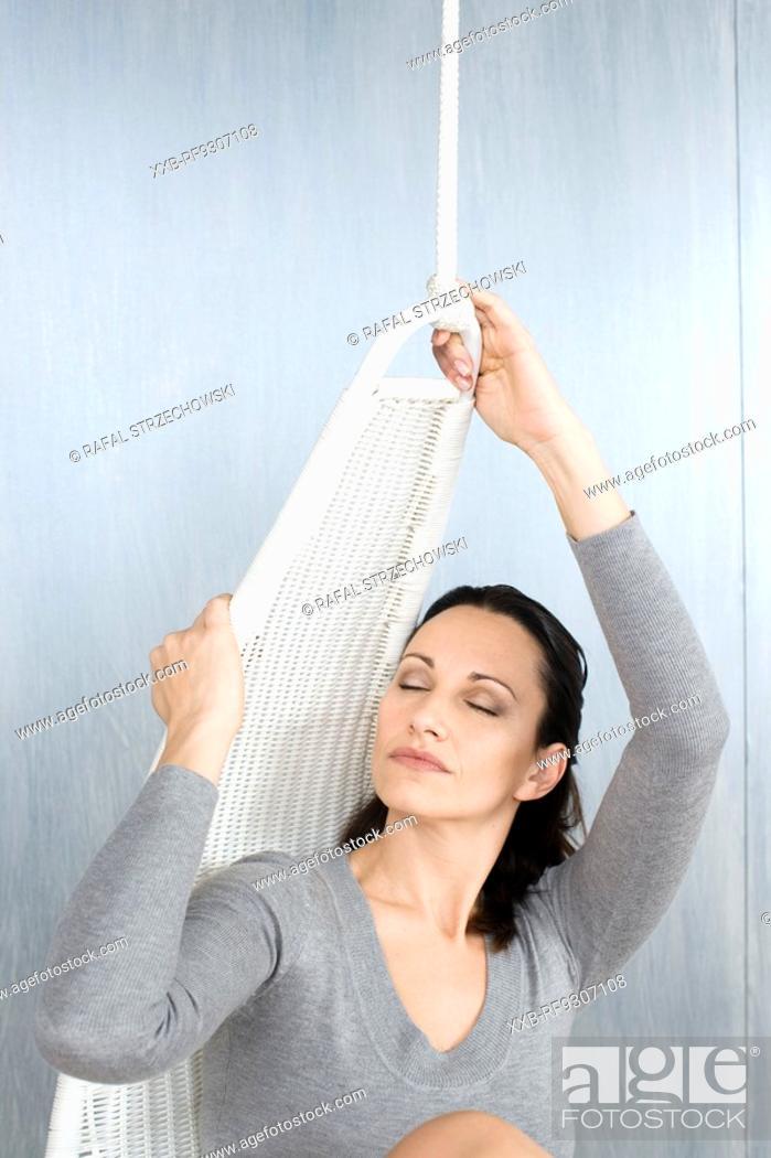 Stock Photo: szczesliwa kobieta.