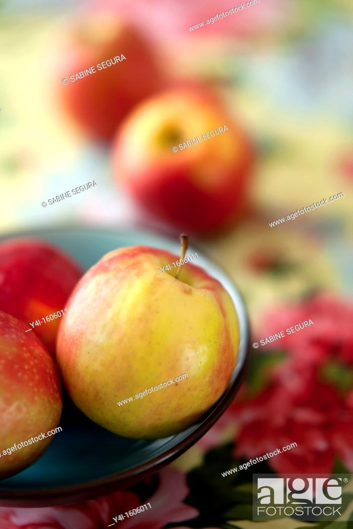 Stock Photo: Pink lady apples.