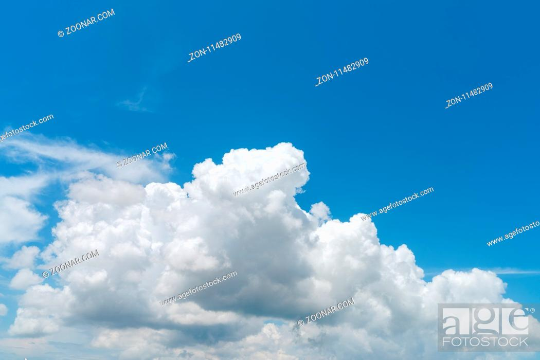 Stock Photo: white cloud on blue sky background.