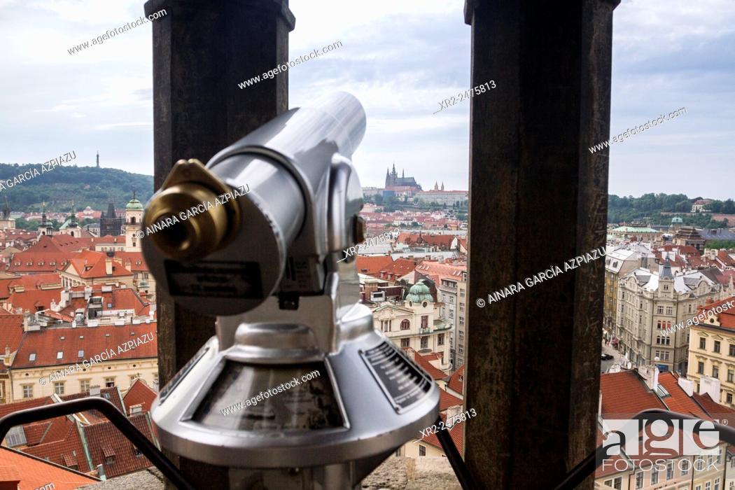 Stock Photo: Aerial view of Praha, Czech Republic.