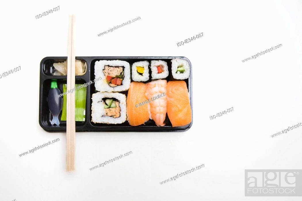 Stock Photo: Takeaway sushi.