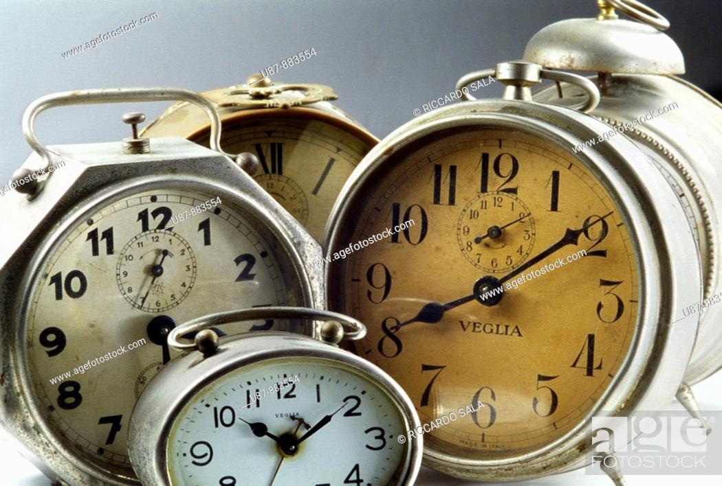 Stock Photo: Vintage Alarm Clock.