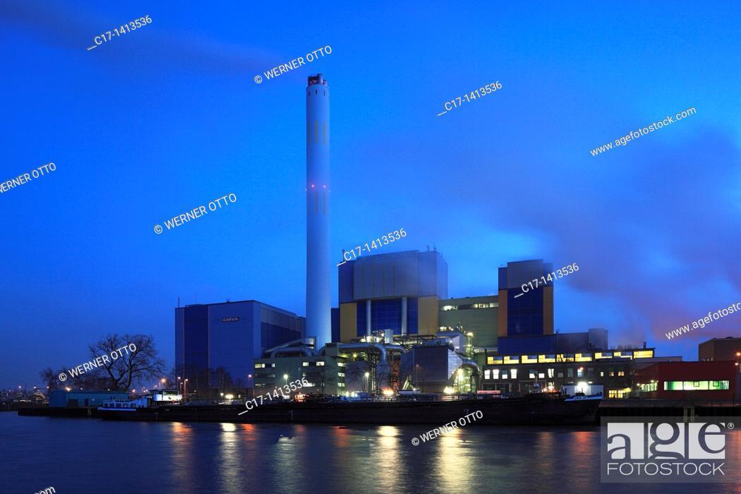 Stock Photo: Germany, Oberhausen, Ruhr area, Lower Rhine, Rhineland, North Rhine-Westphalia, NRW, Oberhausen-Buschhausen, Oberhausen-Lirich, waste disposal, power generation.