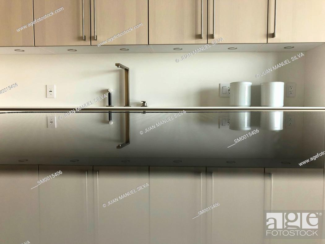 Stock Photo: Modern kitchen.