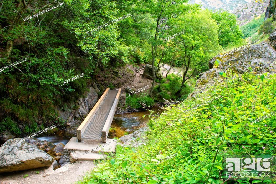 Stock Photo: Valdecesar Stream. Hoces de Valdeteja. Nocedo de Curueño. Leon Province. Castilla y Leon. Spain.