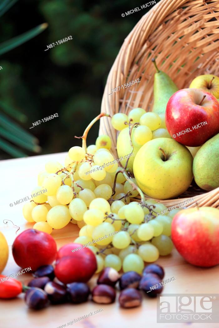 Stock Photo: Still Life with Fruit.