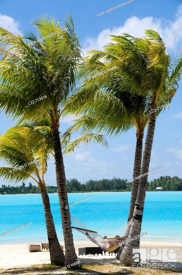 Stock Photo: St Regis Resort. Bora-Bora. Islands in the Windward. Archipelago of Society Islands. Southern Pacific Ocean. French Polynesia.