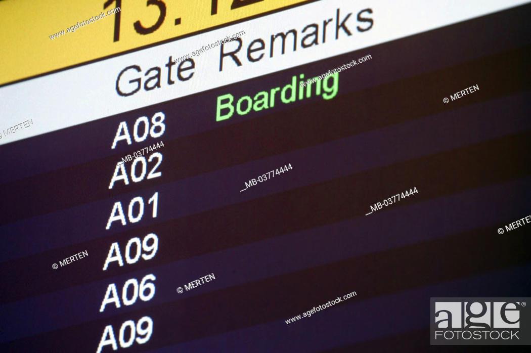 Transportation, traffic, airport, Scoreboard, Boarding, Trip