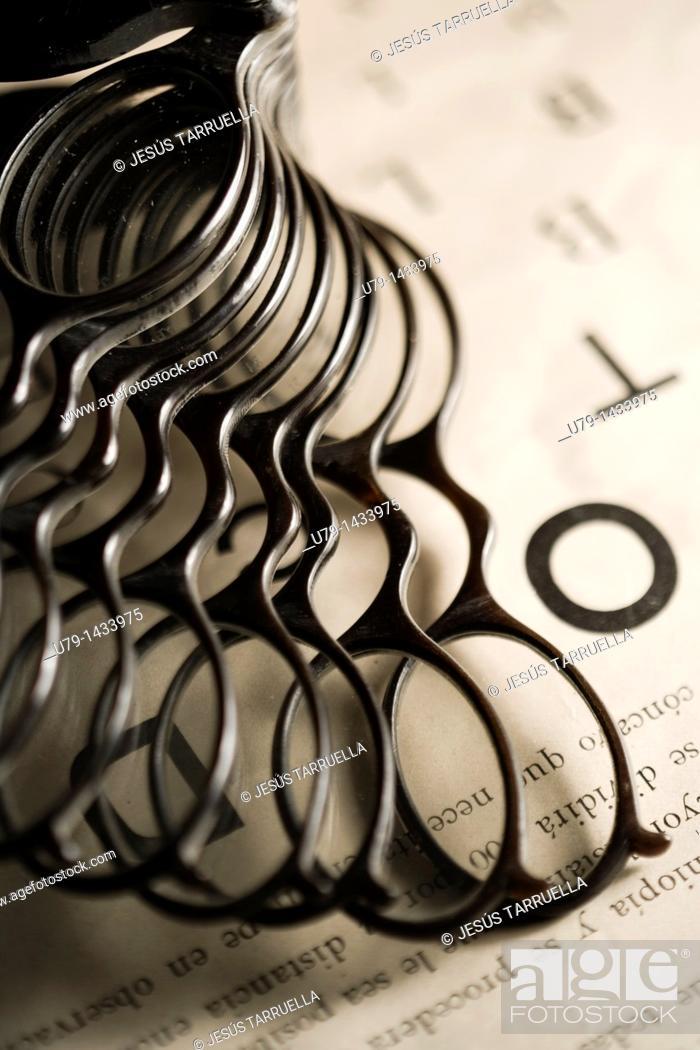 Stock Photo: Still life of old glasses prescription glasses for optical use.