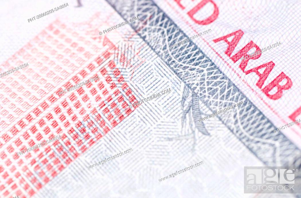 Stock Photo: Close-up of Arab banknotes.