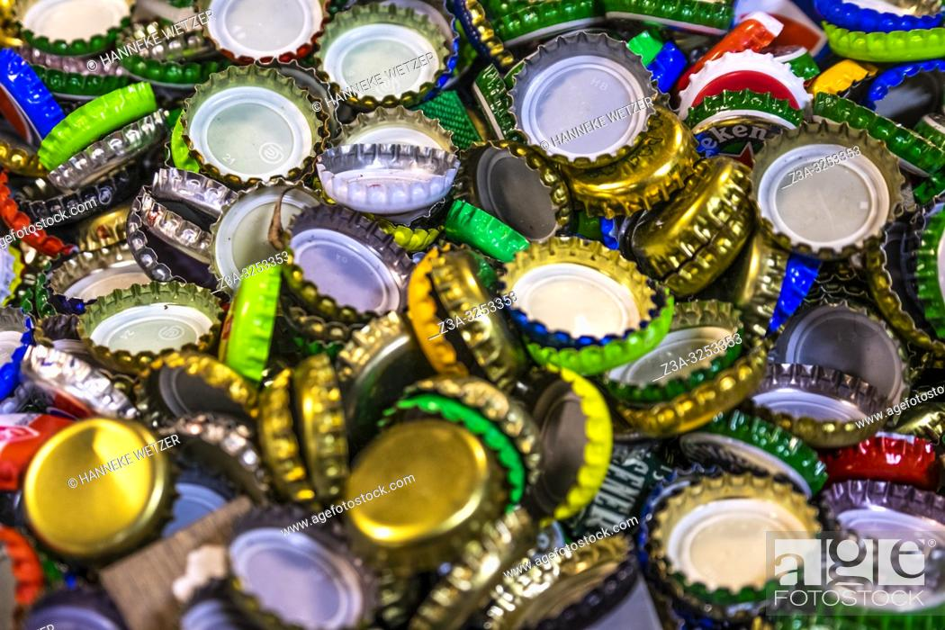 Photo de stock: Collection of bottle caps.