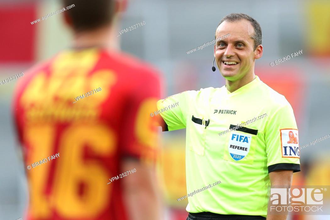 Imagen: Referee Alexandre Boucaut pictured during the Jupiler Pro League match between KV Mechelen and RSC Anderlecht, in Mechelen, Sunday 09 August 2020.