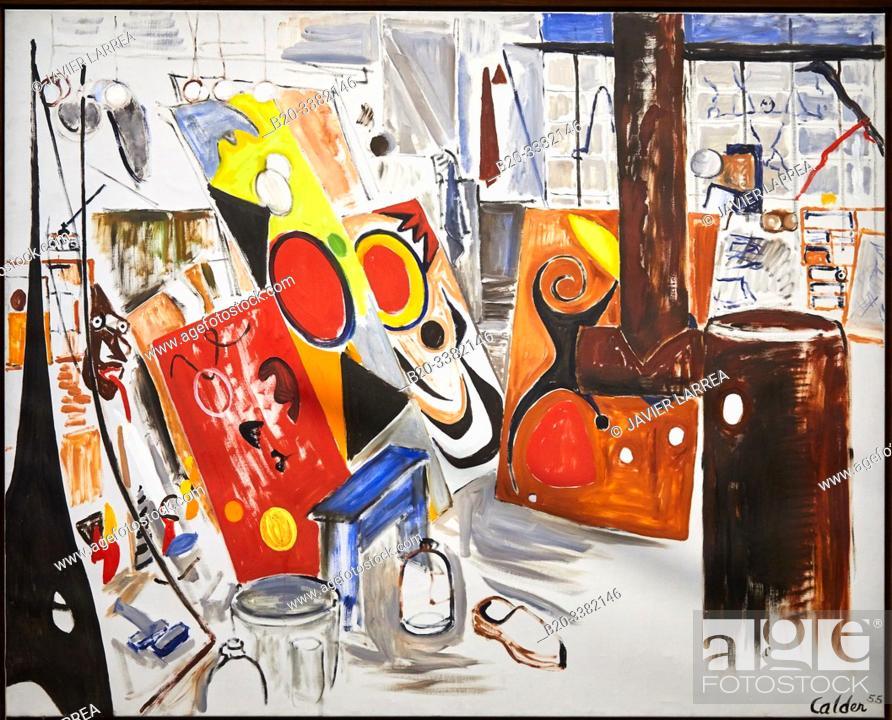 "Stock Photo: ""Mon atelier"", 1955, Alexander Calder, Picasso Museum, Paris, France, Europe."